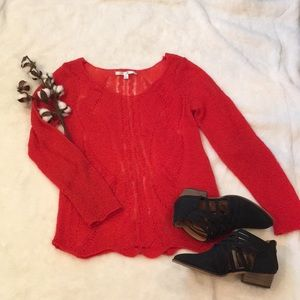 LC Lauren Conrad Loose Weave Thin Sweater
